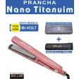 Prancha Profissional Nano Titanium Salles Bivolt - Rose