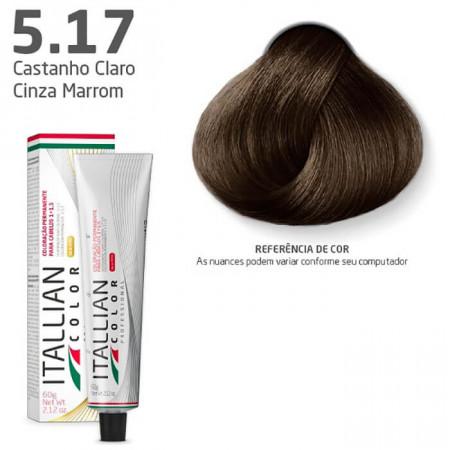 Itallian Color 5.17 Castanho Claro Cinza Marrom