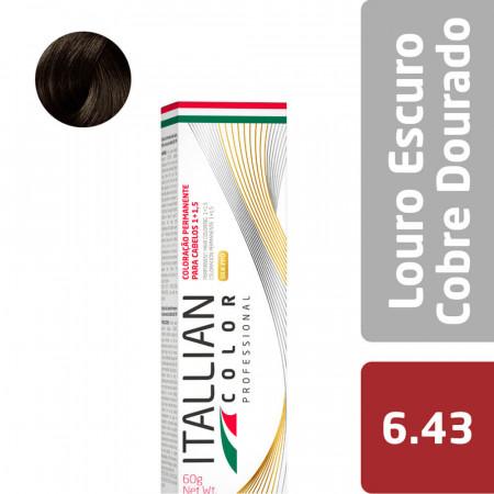 Itallian Color N. 6.43 Louro Escuro Cobre Dourado