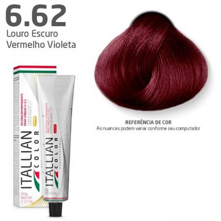 Itallian Color 6.62 Louro Escuro Vermelho Violeta