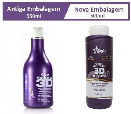 Magic Color Matizador Gloss 3D Ice Blond 500 ml- Efeito Cinza