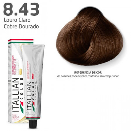Itallian Color 8.43 Louro Claro Cobre Dourado
