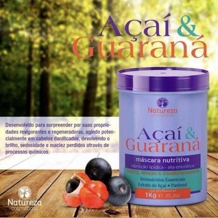 Natureza Cosméticos Máscara Nutritiva Açaí e Guaraná 1kg