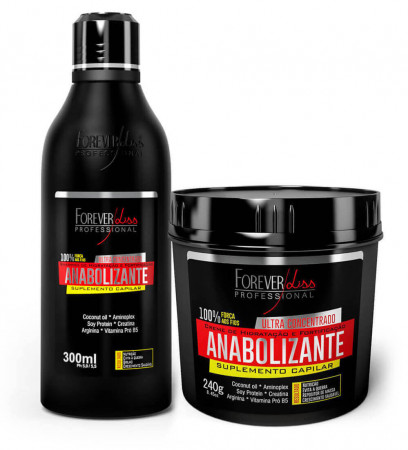 Forever Liss Anabolizante Kit Shampoo 300ml + Mascara 240g