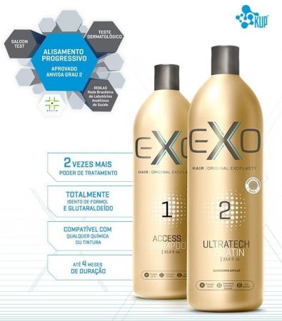 Exo Hair Exoplastia Progressiva Alisamento S/F + Nanotron Mask