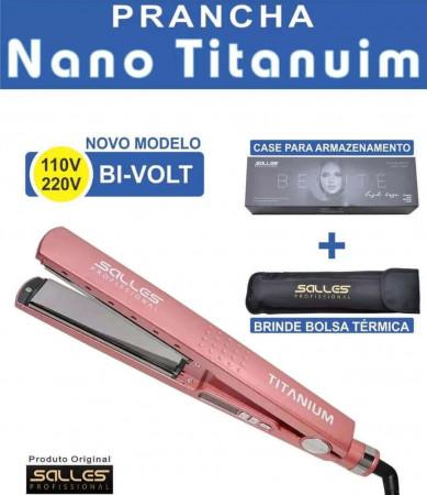 Prancha Profissional Babyliss Nano Titanium Salles Bivolt - Rose