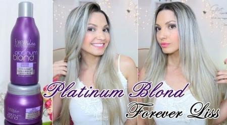 Forever Liss Mascara Matizadora Platinum Blond p/ Loiros - 250g