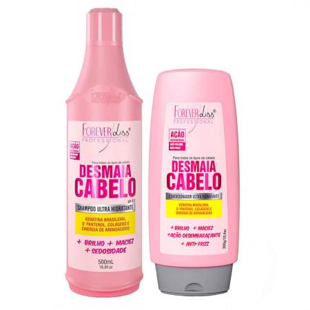 Forever Liss Kit Desmaia Cabelo Shampoo 500ml e Condic 300g