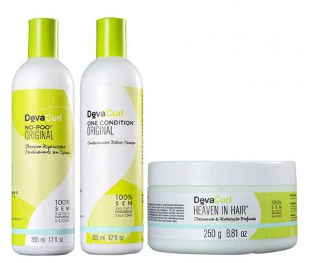Deva Curl Kit 355ml No-Poo + One + Heav in (3 Itens)