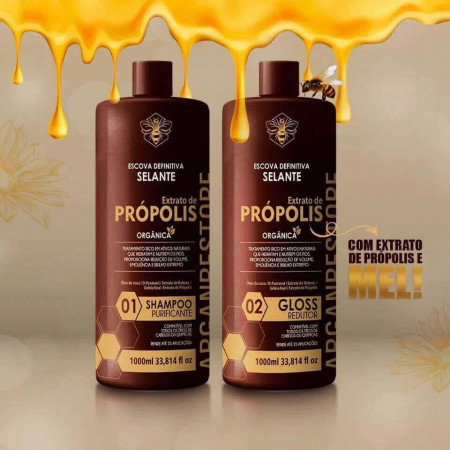 Escova Definitiva Selante Organico Extrato de Propolis 2x1Litro