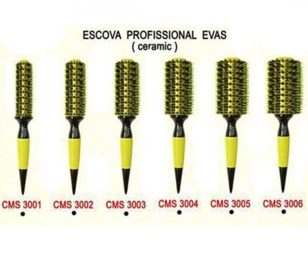 Escova de Cabelo Evas Cerdas Mistas CMS 3004