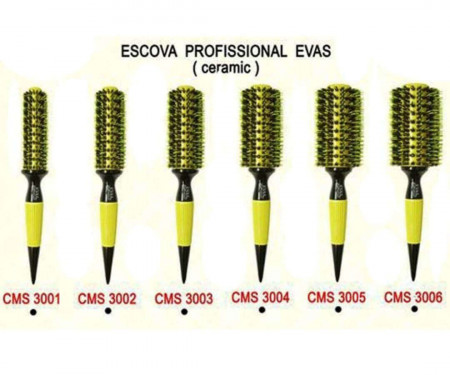 Escova de Cabelo Evas Cerdas Mistas CMS 3002