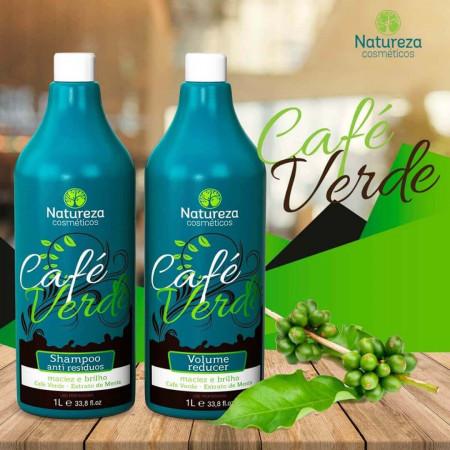 Natureza Cosméticos Progressiva Café Verde Maciez e Brilho 2x1L