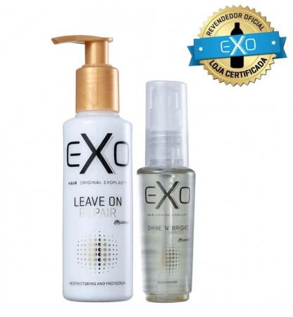 Exo Hair Kit Leave-in On Repair 140ml + Shine Óleo de Brilho