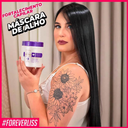 Forever Liss Máscara Capilar de Alho Fortalecedora 450g