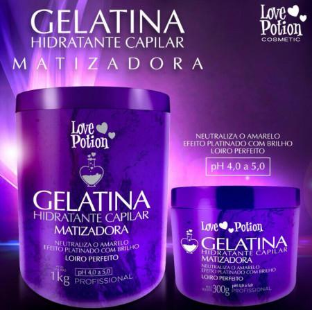 Love Potion Gelatina Matizadora Hidratação Capilar 1kg