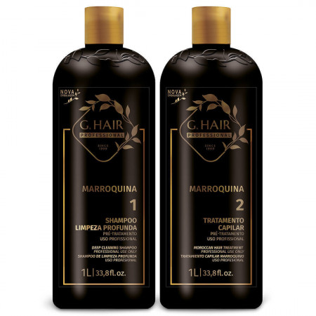 Escova Progressiva Inoar Ghair Marroquina - Kit 2 x 1 Litro