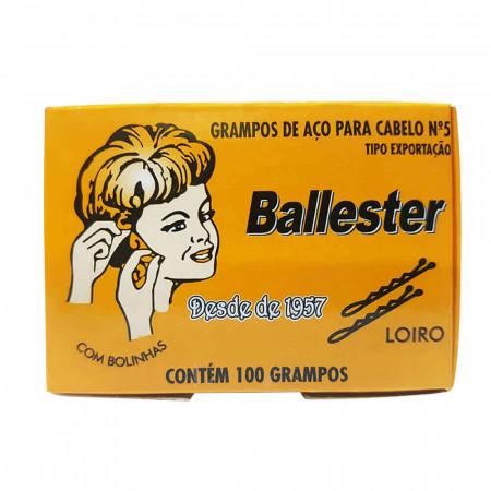 Grampos De Aço Nº5 Loiro Ballester Caixa Com 100 Unidades