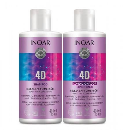 Inoar Kit Duo 4D Beleza em 4 Dimensões 2x400ml
