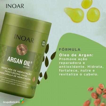 Inoar Argan Oil System Máscara Hidratação Capilar 1kg
