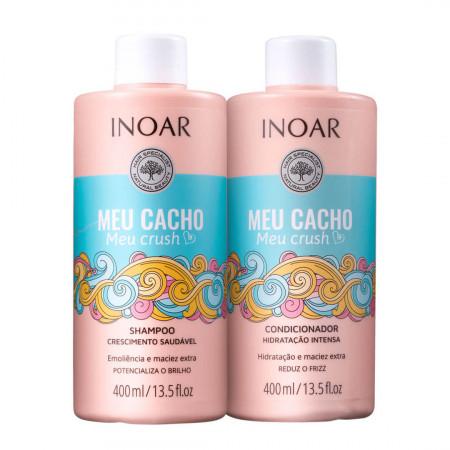 Inoar Meu Cacho Meu Crush Kit Shampoo e Condicionador - 2x400ml
