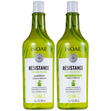 Inoar Résistance Fibra de Bambu Kit Salon Duo ( 2x1Litro )