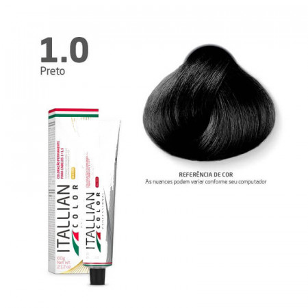Coloração Itallian Color 1.0 Preto 60g