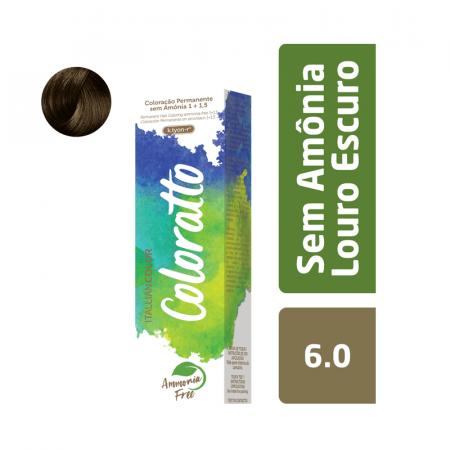Coloração Sem Amônia Coloratto 60g Louro Escuro 6.0