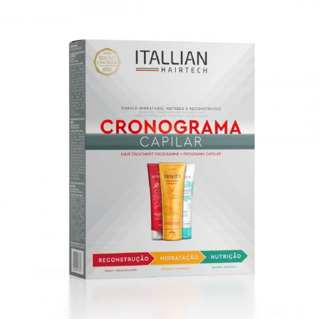 Itallian Hairtech Kit Cronograma Capilar 3 Itens