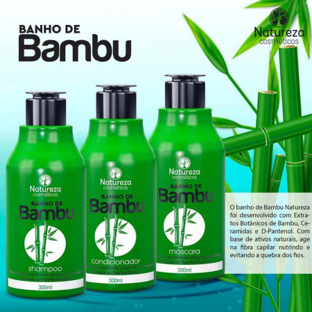 Natureza Cosméticos Kit Banho de Bambu 3x300ml