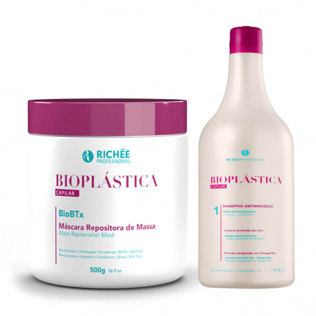 Richée Bioplástica Capilar BioBtx Repositor 500g + Shampoo 300ml