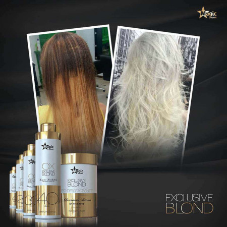 Magic Color Kit Exclusive Blond Pó Descolorante + Ox 30 Volumes