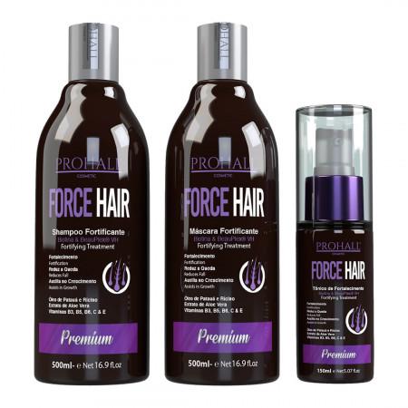 Prohall Force Hair Kit de Crescimento Acelerado 3 Itens