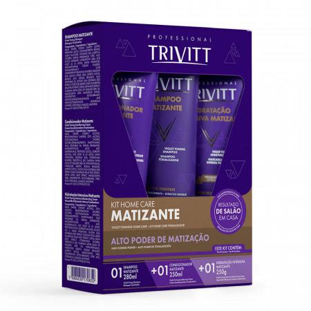 Itallian Kit Home Care Trivitt Blonde Matizante Hidratação (3pc)