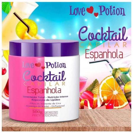 Love Potion Cronograma Cocktail Capilar Espanhola Nutrição 500g