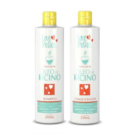 Love Potion Óleo de Rícino Kit Shampoo e Condicionador 2x240ml