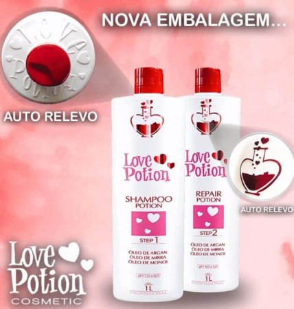 Love Potion Kit Escova Progressiva 2x1L + Bt-o.x LoveTox Brunette