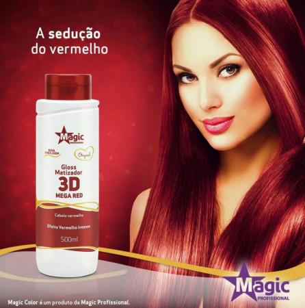 Magic Color 3D Mega Red Matizador - Efeito Vermelho Intenso 500ml
