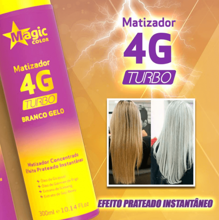 Magic Color Matizador 4g Turbo Branco Gelo 300ml
