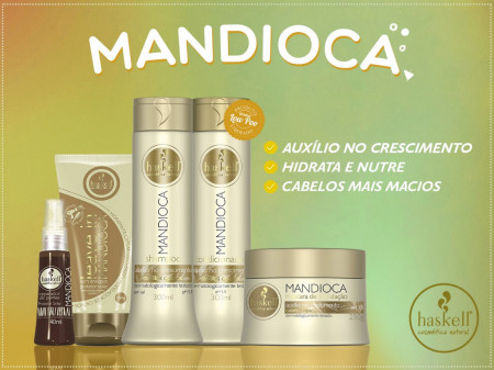 Haskell Mandioca Kit Duo Shampoo 500ml + Mascara 500g