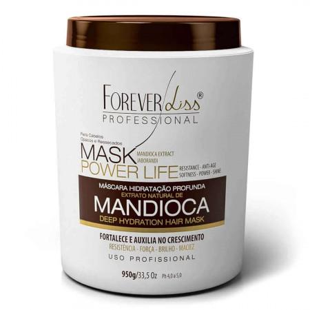 Forever Liss Mandioca Máscara Hidratante de Power Life 950g