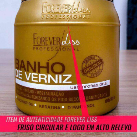 Kit Combo Forever Liss SOS + Banho Verniz + Desmaia Cabelo