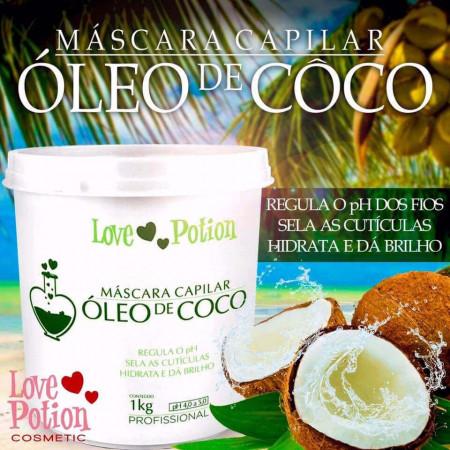 Love Potion Máscara Capilar Óleo de Coco 1Kilo