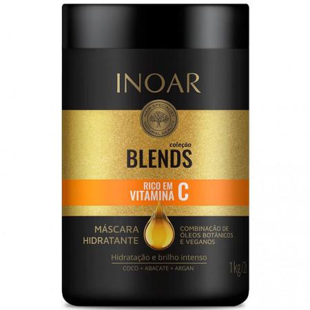 Inoar Coleção Blends Kit Shampoo e Condic. 2x1L + Máscara 1Kg