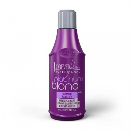 Forever Liss Platinum Blond Shampoo Blueberry Matizador 300ml