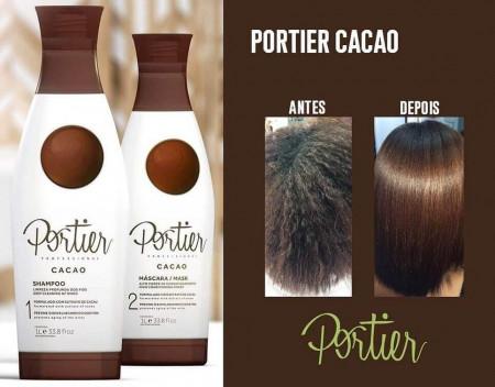 Portier Cacao Escova Progressiva + Bt-o.x Ciclos Portier 1 Kg