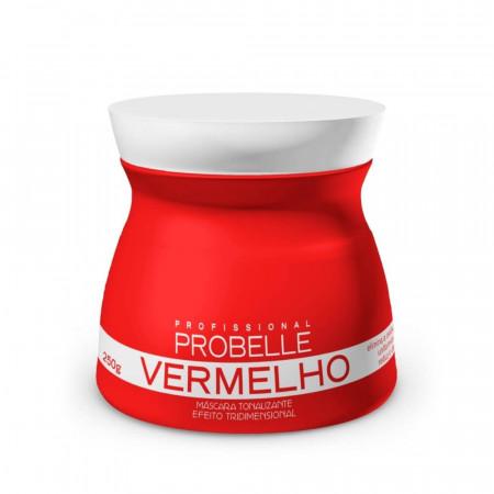 Probelle Mascara Tonalizante Vermelho 250g - Efeito 3D