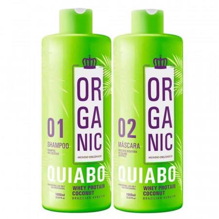 Fio Perfeito Escova Progressiva De Quiabo Organic 2x1Litro