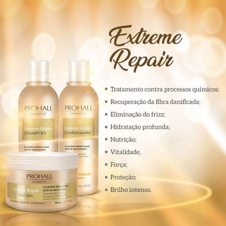 Prohall Máscara Home Care Extreme Repair Extrato de Macadâmia