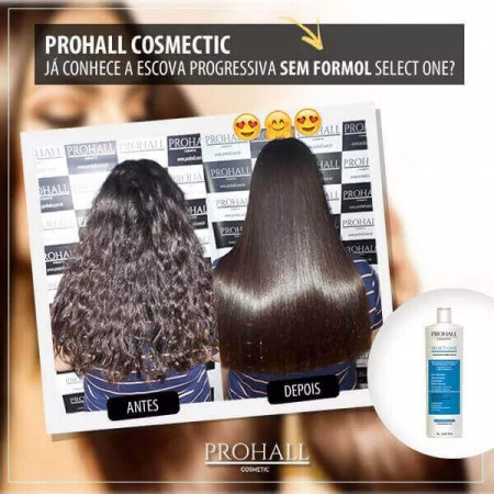 Prohall Escova Progressiva Select One Passo Único S/ Formol 300ml